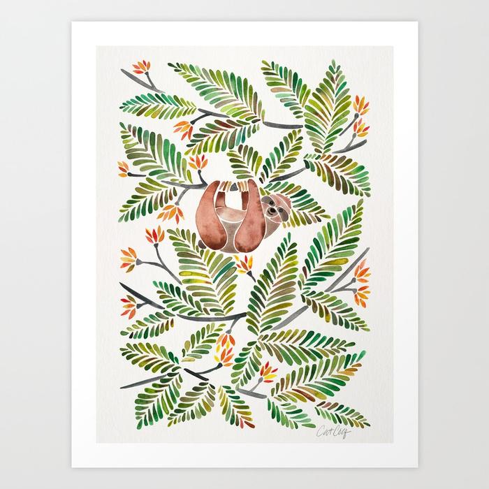happy-sloth-tropical-green-rainforest-prints.jpg