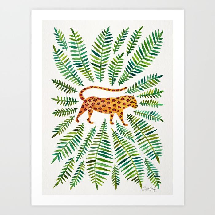 jaguar-green-leaves-prints.jpg