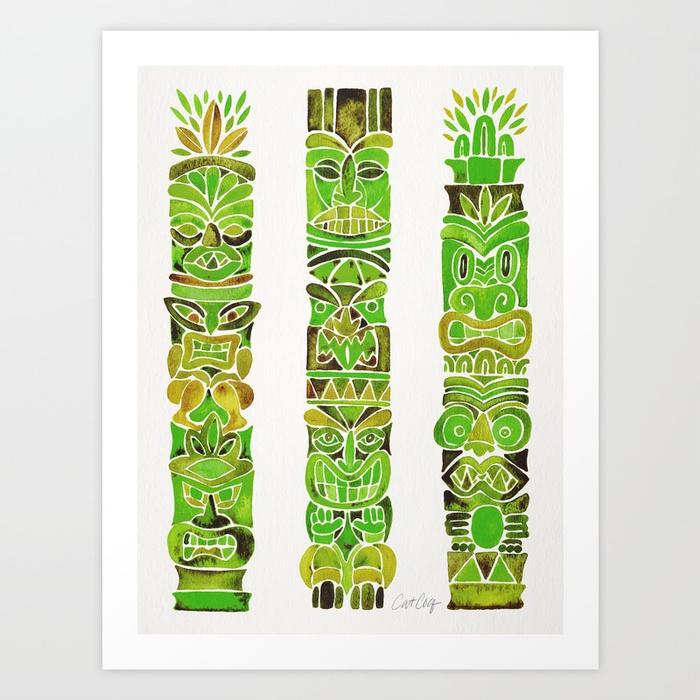 tiki-totems--green-prints.jpg