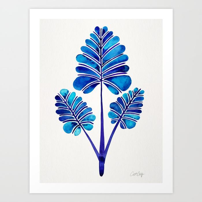 tropical-palm-leaf-trifecta-navy-palette-prints.jpg