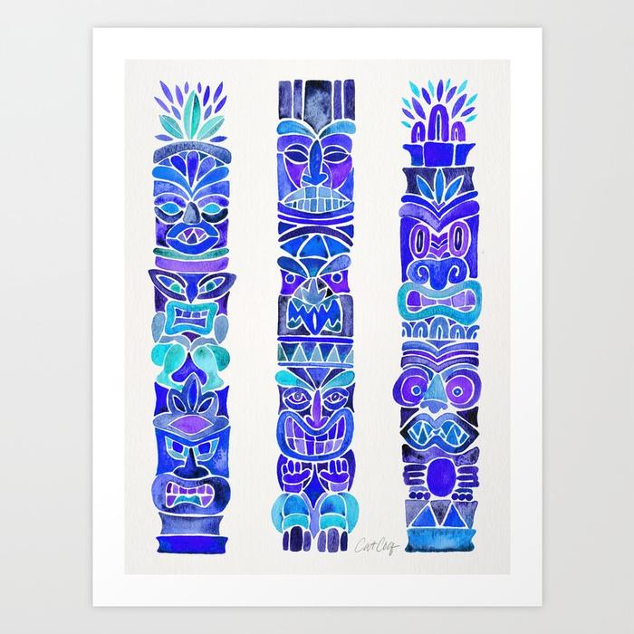 tiki-totems--indigo-palette-b2q-prints.jpg