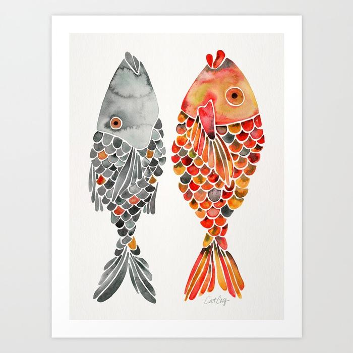 indonesian-fish-duo-grey-orange-palette-prints.jpg