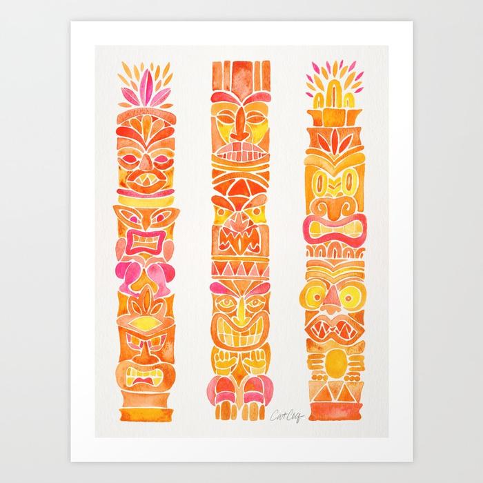 tiki-totems--orange-ombr-prints.jpg