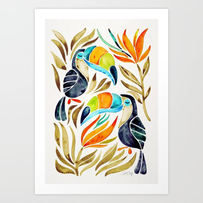 tropical-toucans-sepia-palette-prints.jpg