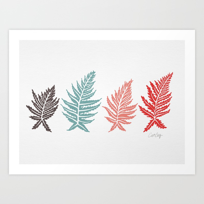 inked-ferns-red-green-palette-prints.jpg