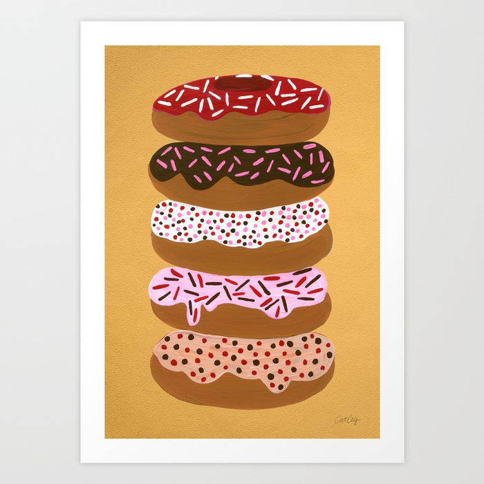stacked-donuts-on-yellow-prints.jpg