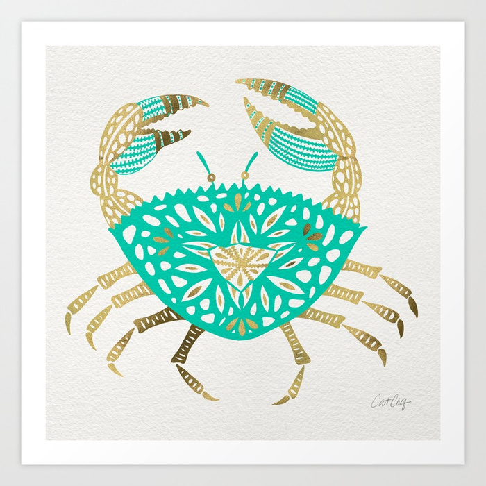 crab--turquoise--gold-prints.jpg