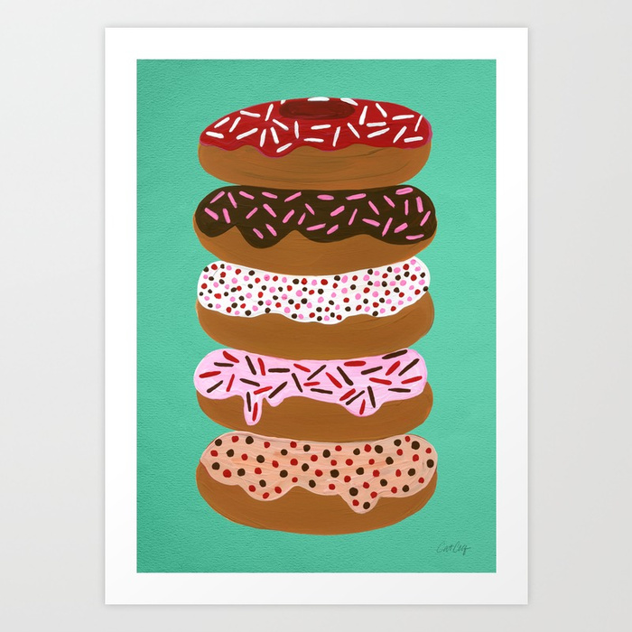 stacked-donuts-on-mint-prints.jpg