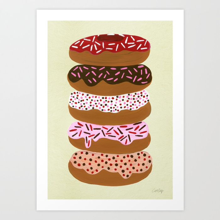 stacked-donuts-on-cream-prints.jpg