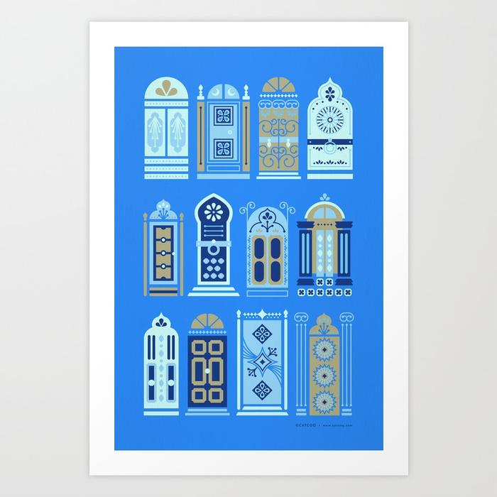moroccan-doors-cornflower-blue-palette-prints.jpg