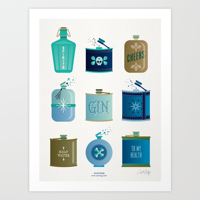 flask-collection-blue-and-tan-palette-prints.jpg