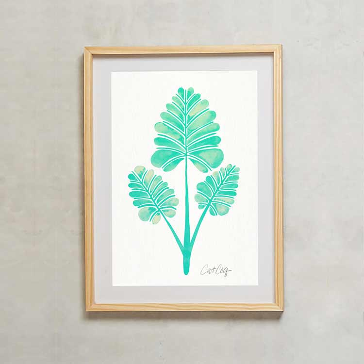 Palm Leaf Trifecta Art Print   –  starting at $20