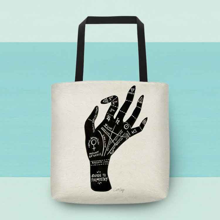 Palmistry Tote Bag   –   $25