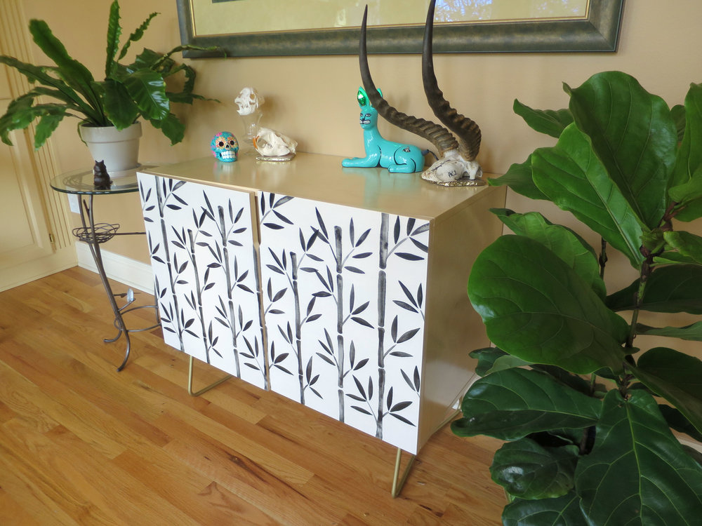 """Black Bamboo"" credenza available  here ."