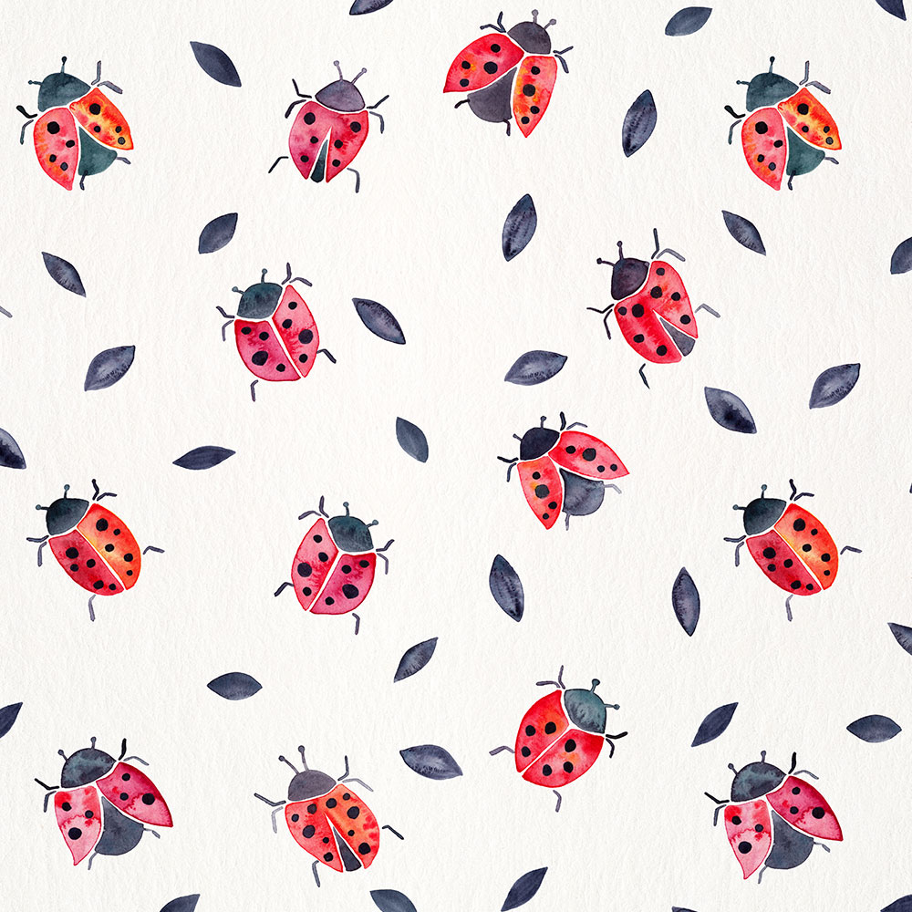 BlackLeaves-Ladybugs-pattern.jpg