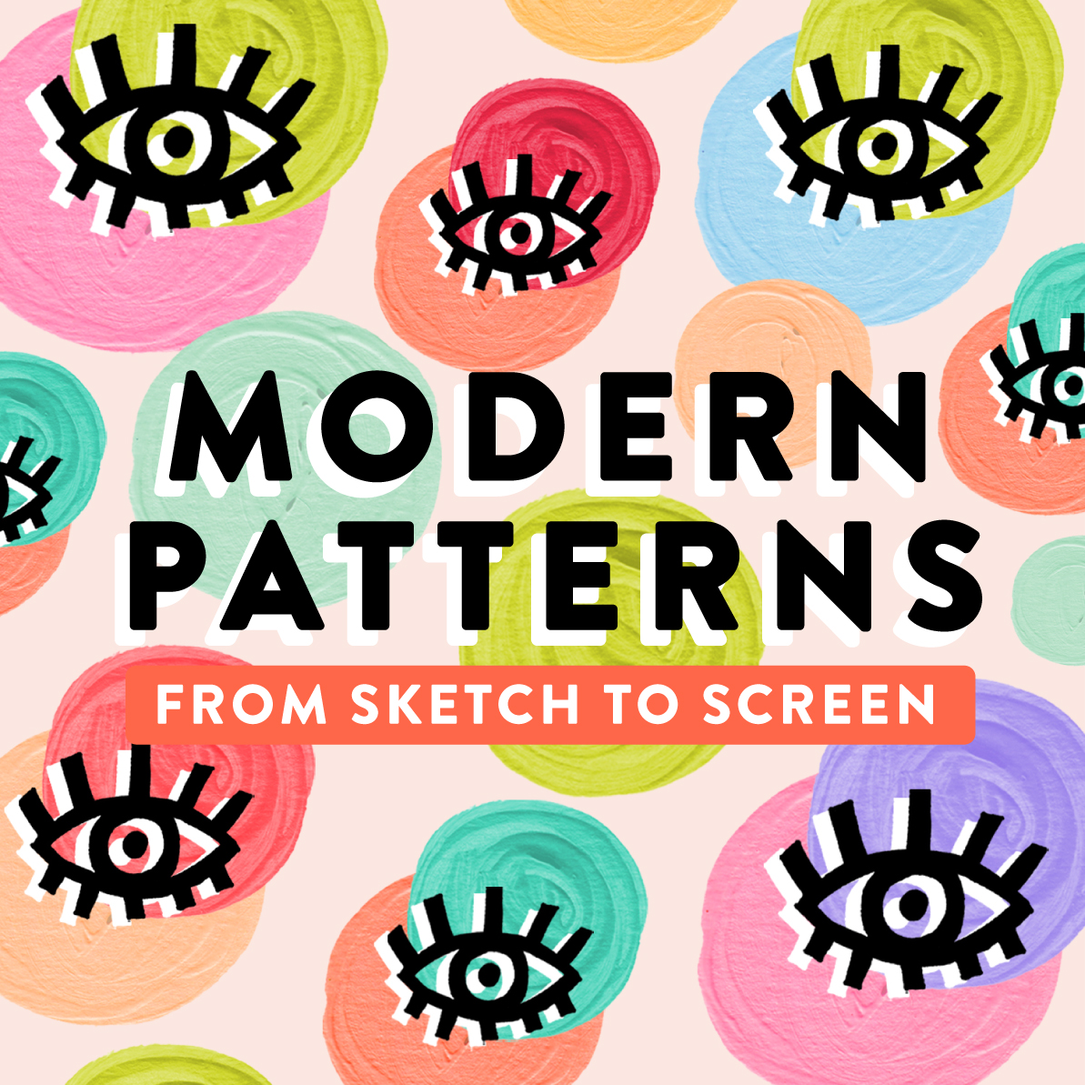 New Online Class: Modern Patterns - From Sketch to Screen // with