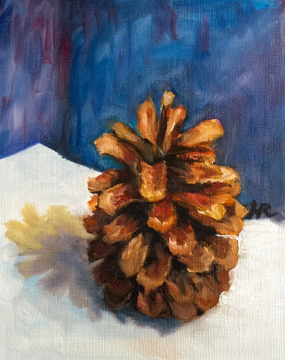 Pinecone Study (Blue)