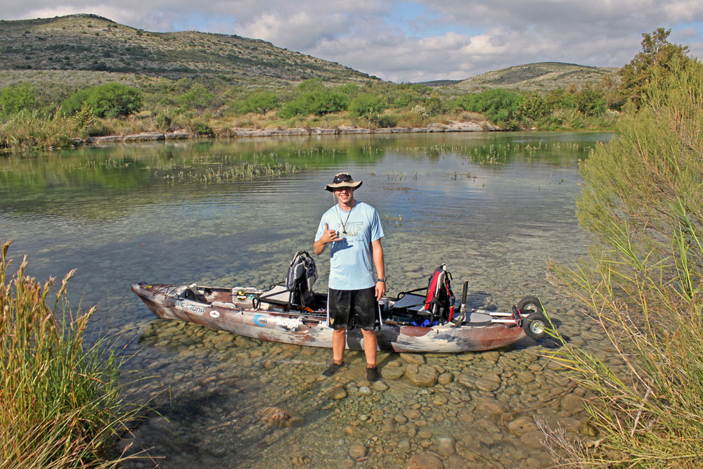 The Jackson Kayak Big Tuna is suited for a wide variety of waters, including my favorite river as seen above - the Devils River