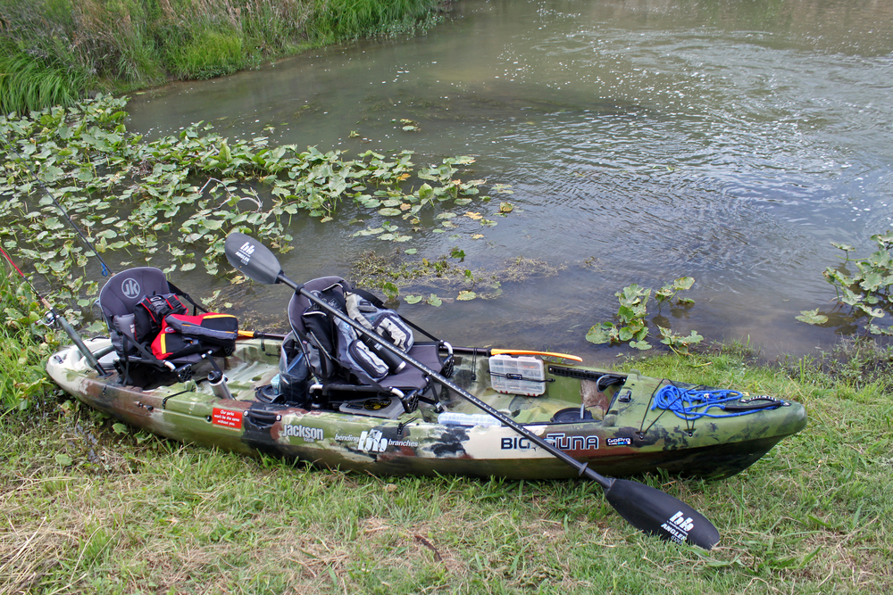 Jackson Kayak Big Tuna in GI Jackson at the South Llano River State Parl