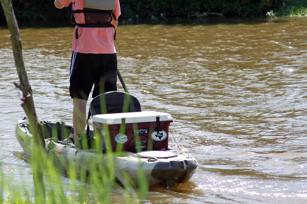 The ORCA 26 qt. cooler works great for kayak fishing does an excellent job of keeping your drinks cold.