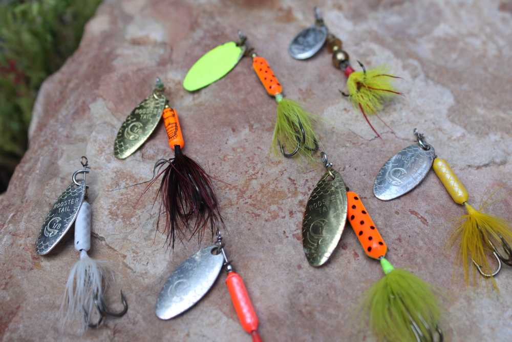 An assortment of Rooster Tails that I like to use to catch some Texas Bass