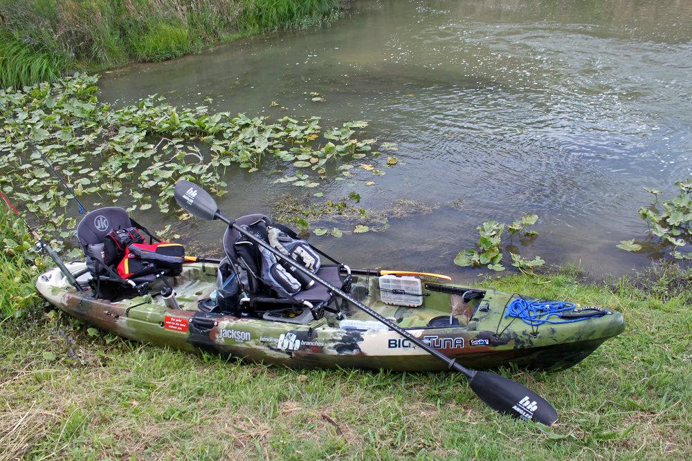 Bending Branches Angler Ace with a Jackson Kayak Big Tuna