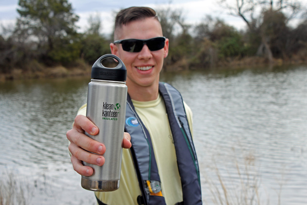 Clint Taylor and his Klean Kanteen Insulated Wide 20 oz. Water Bottle