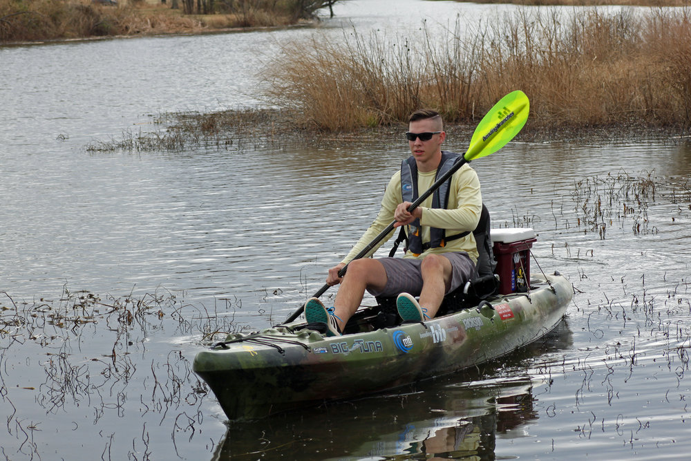 The capability of the Jackson Kayak Big Tuna to go solo is just one of the unique characteristics.