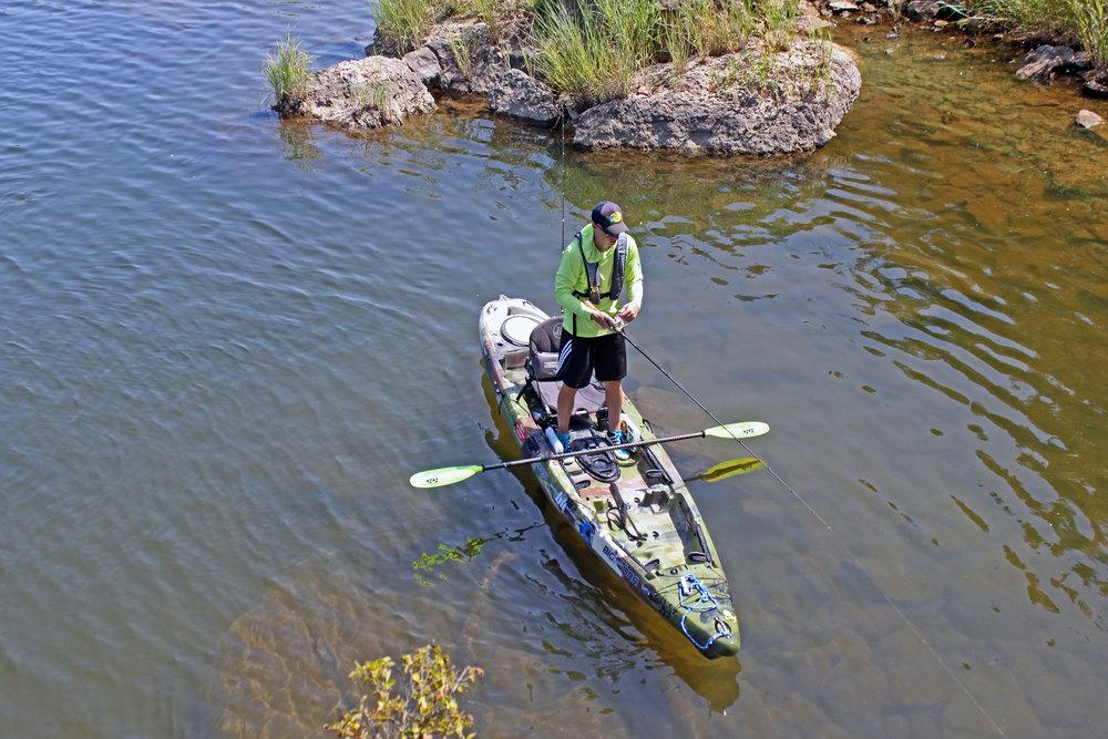 Clint Taylor with his Jackson Kayak Big Tuna
