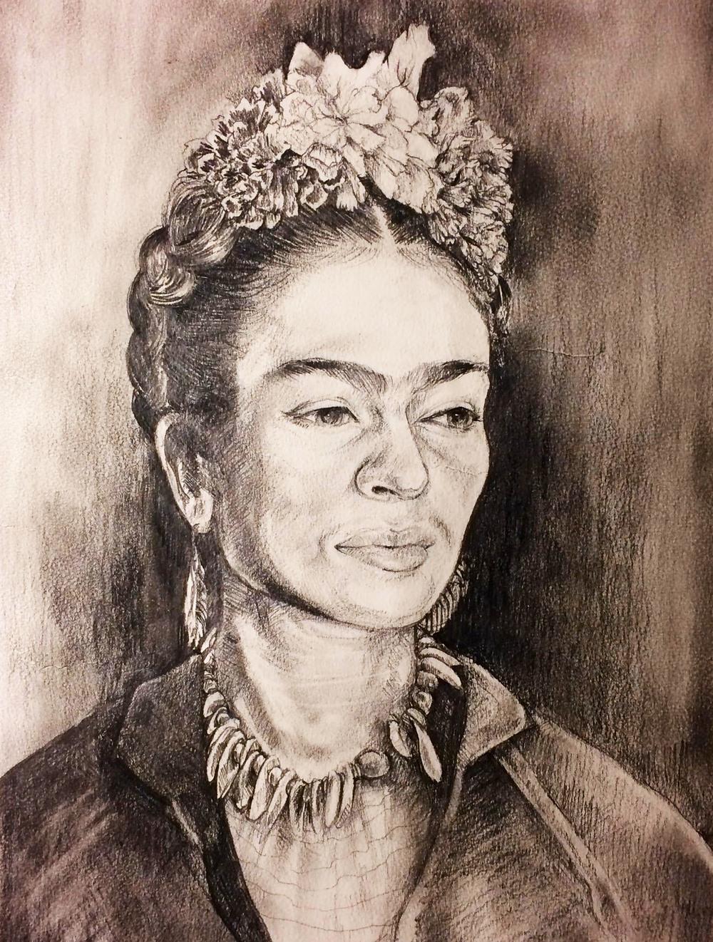 Frida Kahlo/ March 2015/ graphite