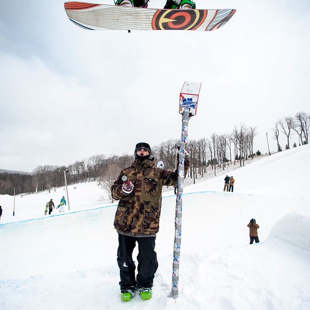 Fun weekend at the #oakleyminipipe @snowboardermag