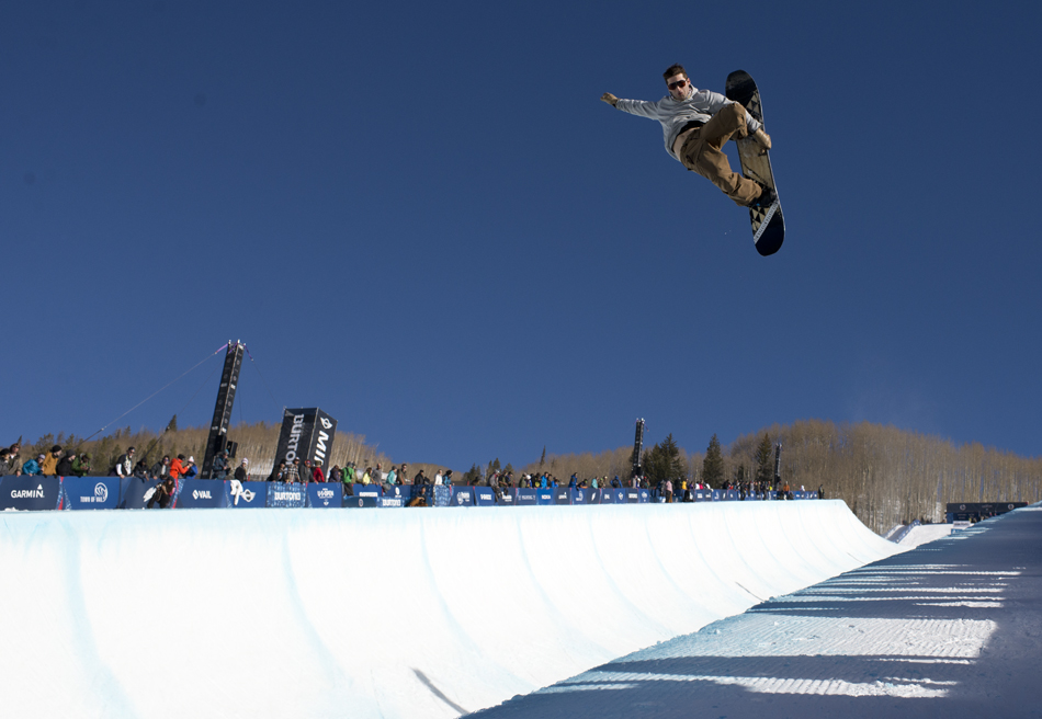 JJ Thomas. Vail, Colorado. March 2014. Burton U.S. Open, shot for SNOWBOARDER Magazine.