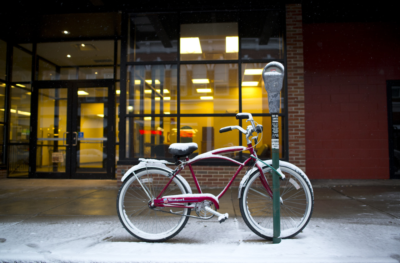 Hip, under-appreciated bike. Court St., Athens, Ohio. January 2014.
