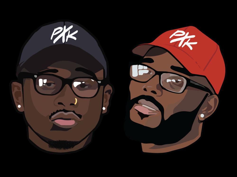 Petey x Kraze Head Logos