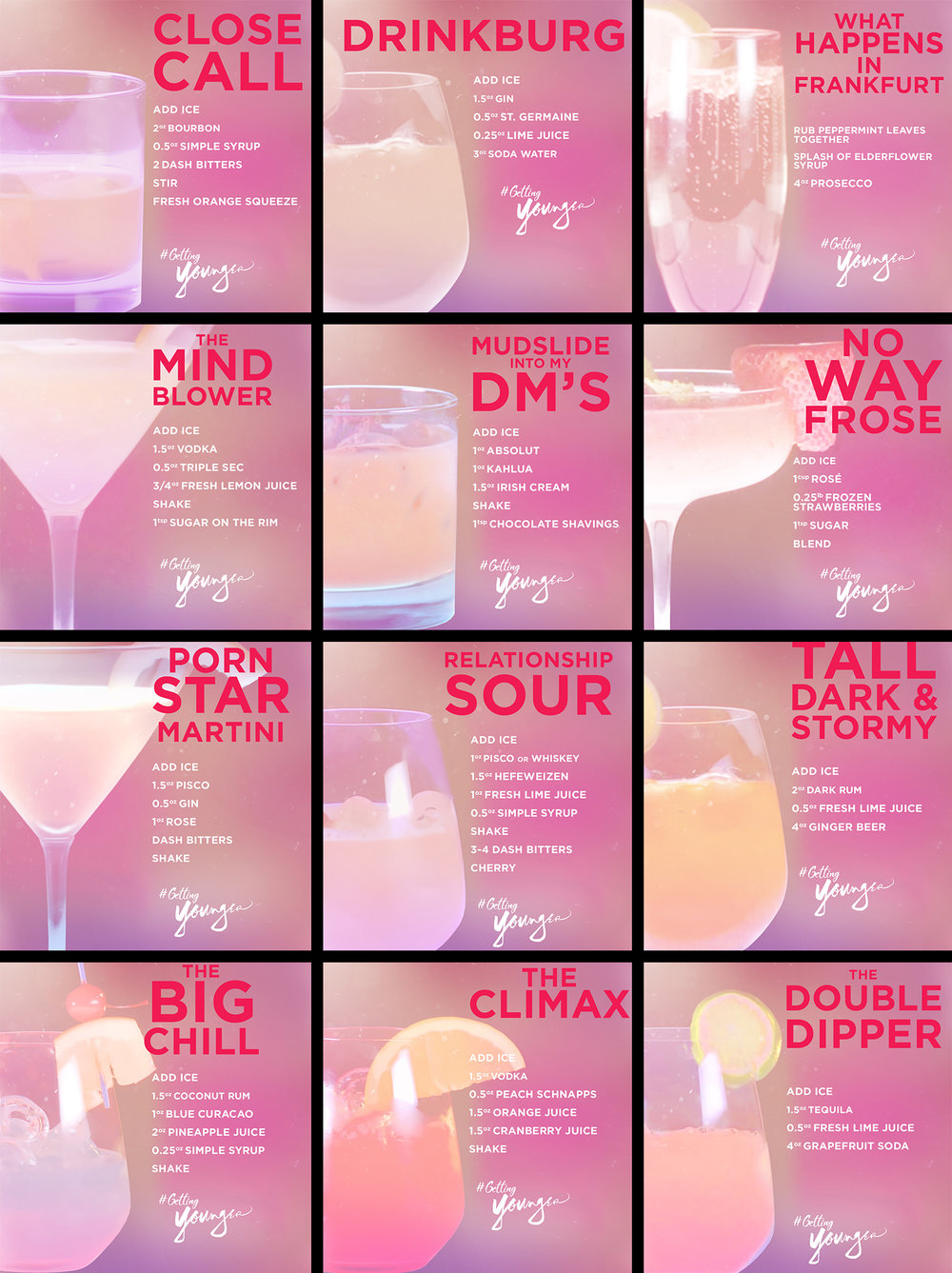 Younger Season 5 Drink Recipe Graphics.