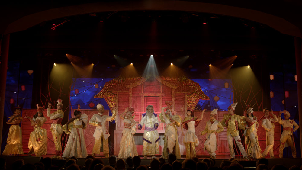 The Secret Silk production show for Princess Cruises