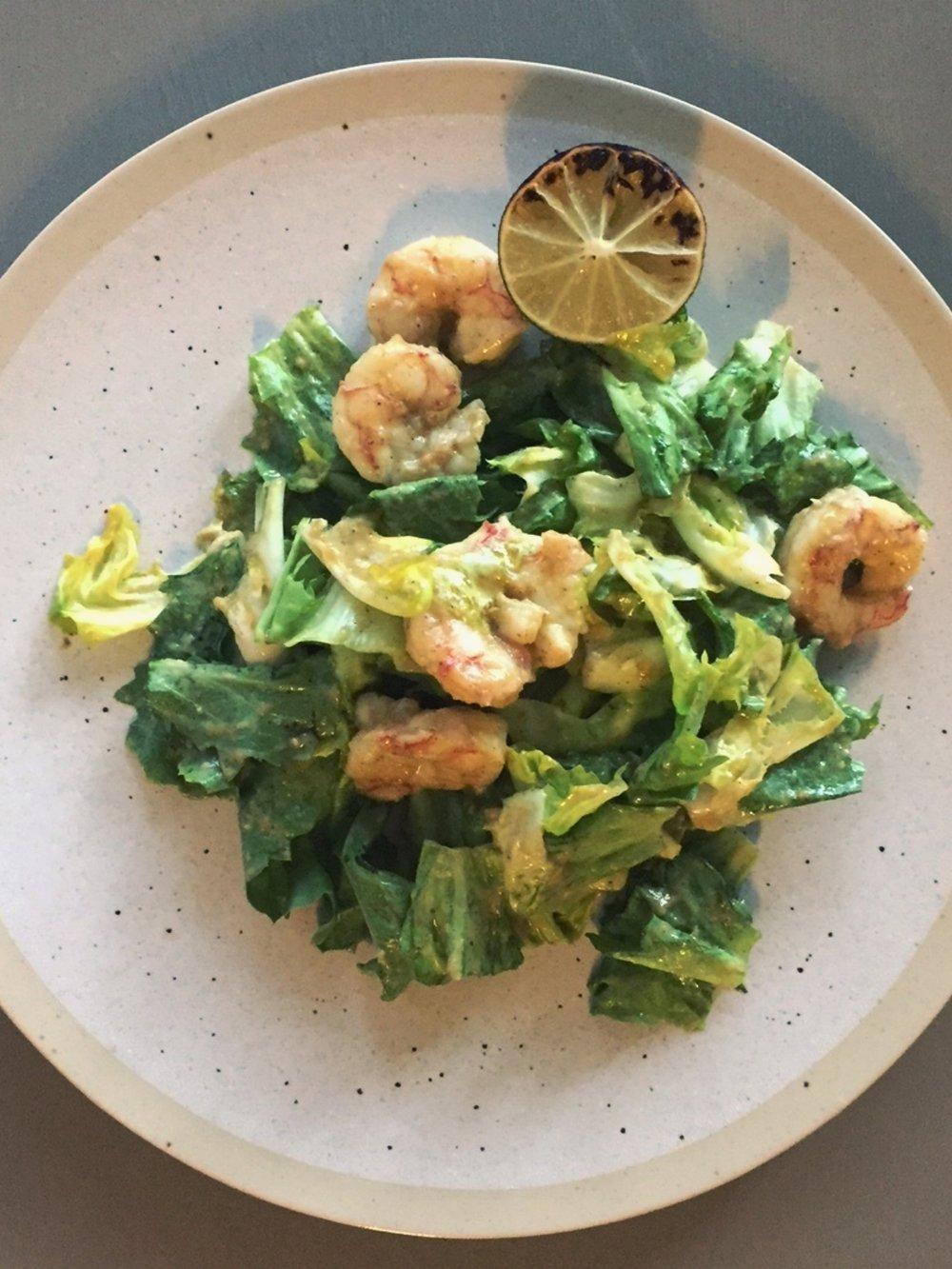 shrimp-escarole-salad-salsa-verde