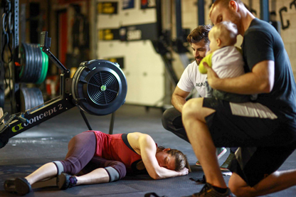 Our friends from Crossfit Select, Lesley, Tommy and Coach Holly's bf (Chris) made it onto mainsite with this pic post 15.5