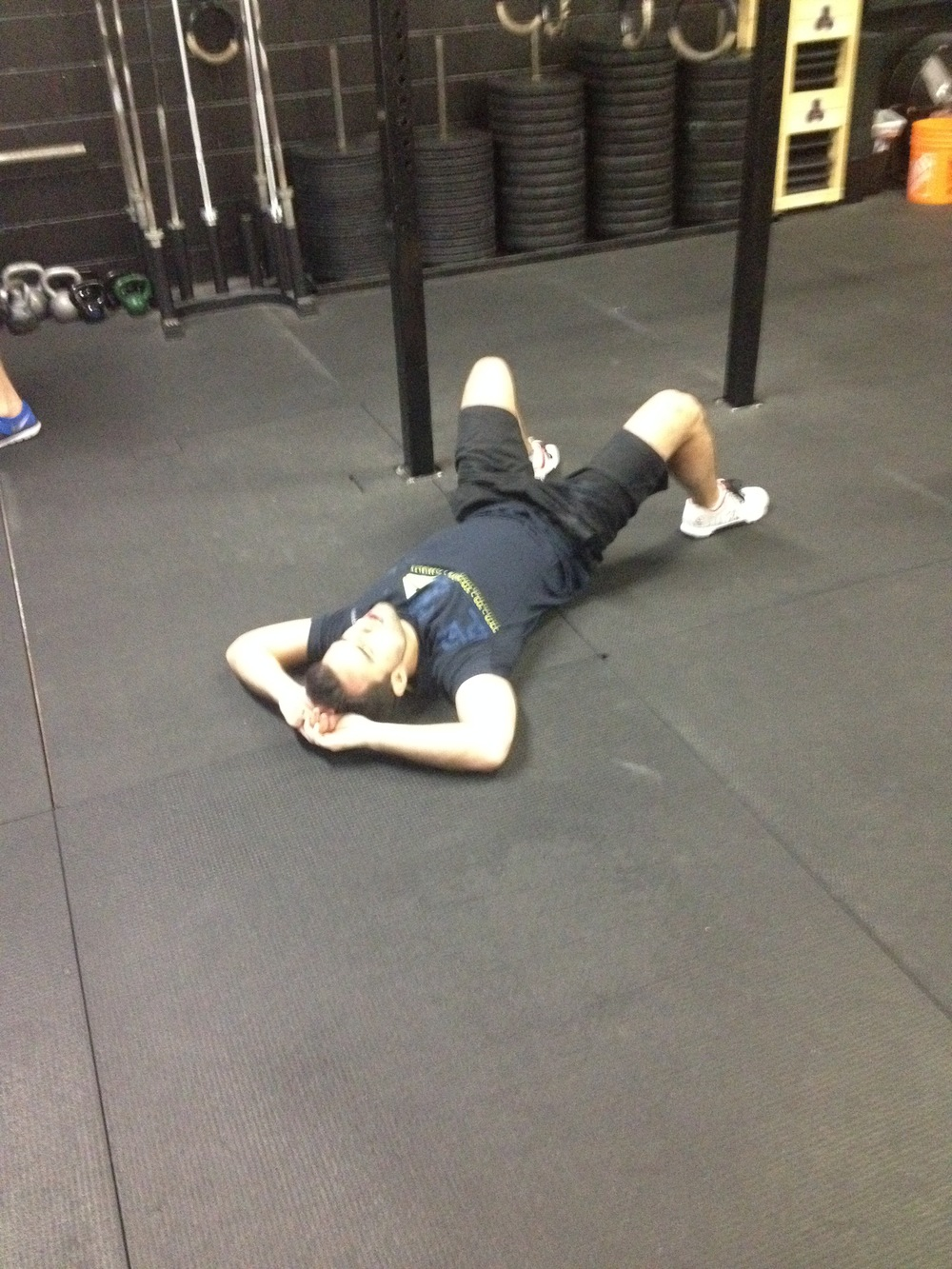 Sergio post WOD. After completing his first RX Fran in just over 6 mins