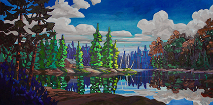 "Cam Forrester, ""Colours of Cypress"", 36"" x 72"""