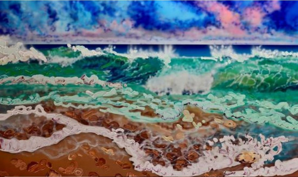Last Day in Paradise,Mixed Media on Canvas,36 x 60 in,Framed, CAD 5,785.00