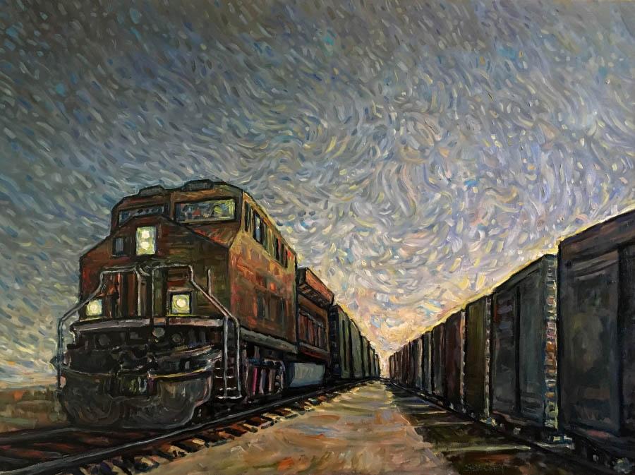 "Steve Coffey, ""Slow Passing"", 30 x 40, Oil, 2018"