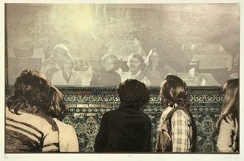 """E.J. Howorth, """"Mirage I - the 70's"""",   silkscreen, 14 3/4 x 22"""", 1983, """"$600.00 CAD"""
