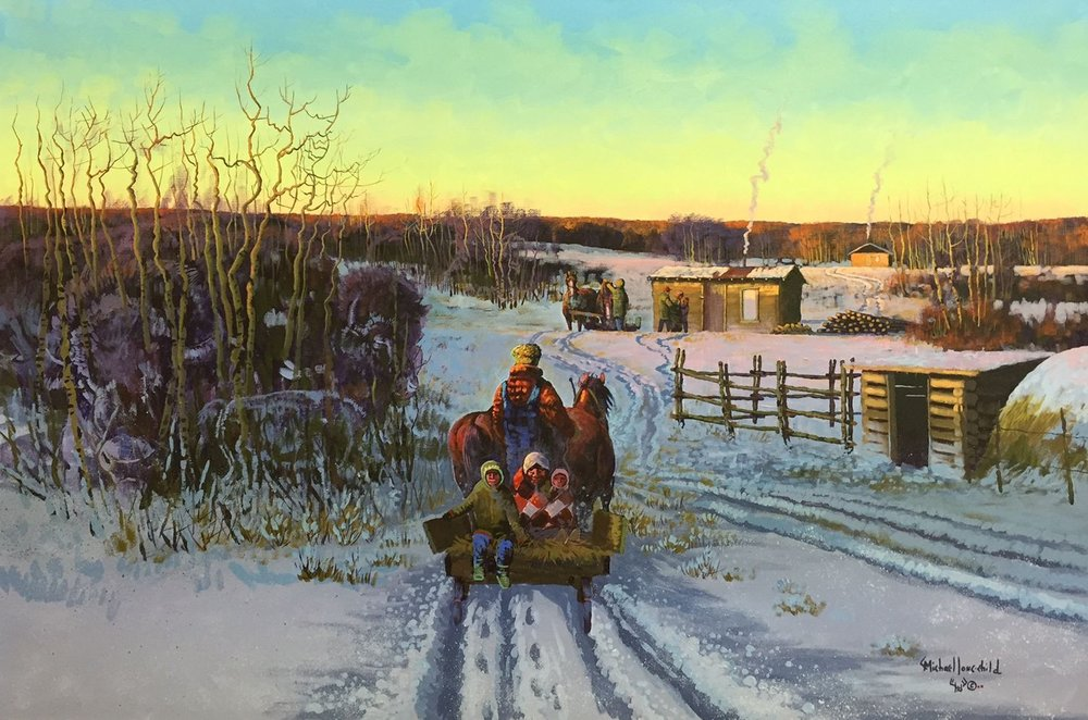 """Michael Lonechild, """"A Place on White Bear"""", 36 x 24, acrylic on canvas, framed, $4,150.00"""