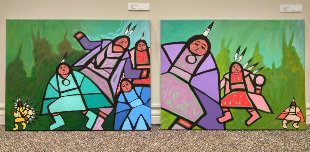 Hugs and Our Baby by Jerry Whitehead, acrylics on canvas, $450.00 each