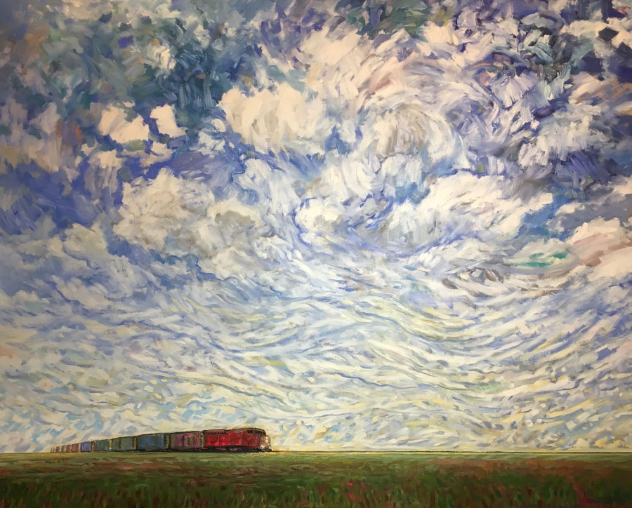 """Steve Coffee, """"An Afternoon Haul"""", oil on canvas, 48 x 60 inches, CAD$5,800 Framed"""