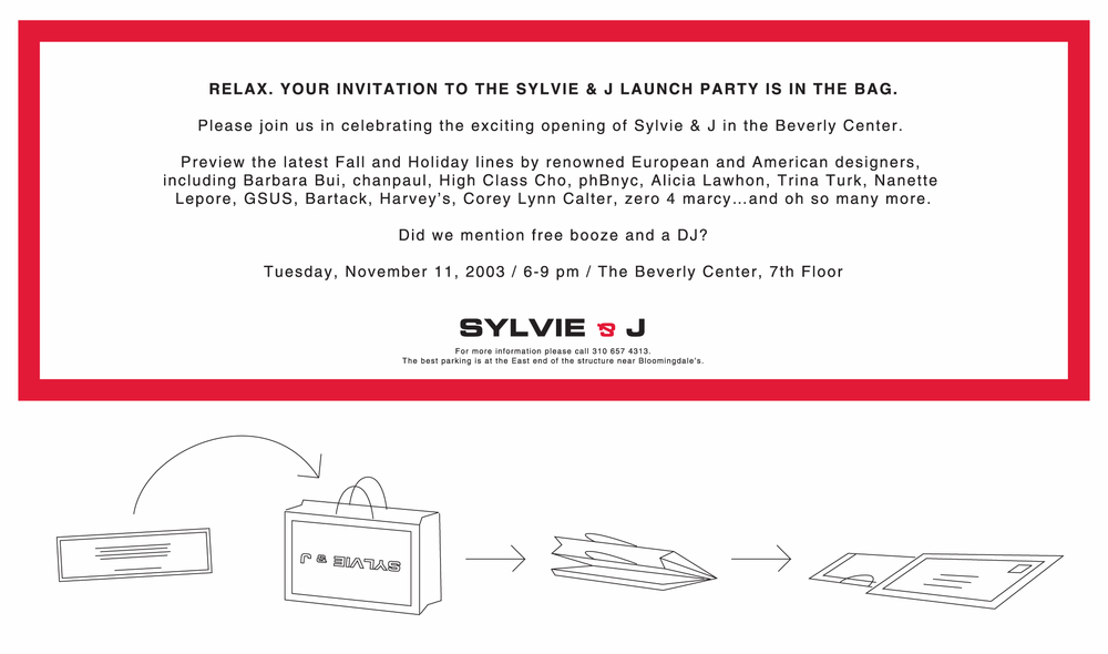 Bag Mailer/Relaunch Party Invite