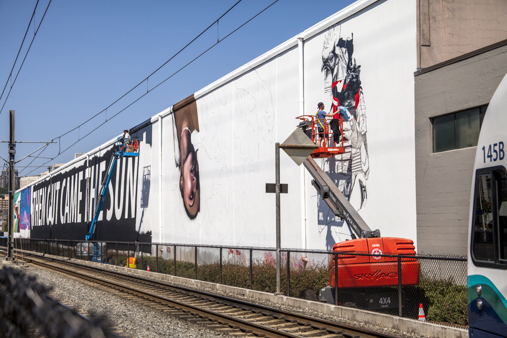 WISEKNAVE Fine Art Documentation for the SODO Track Mural Project. Urban Artworks & 4 Culture Seattle, WA 2016