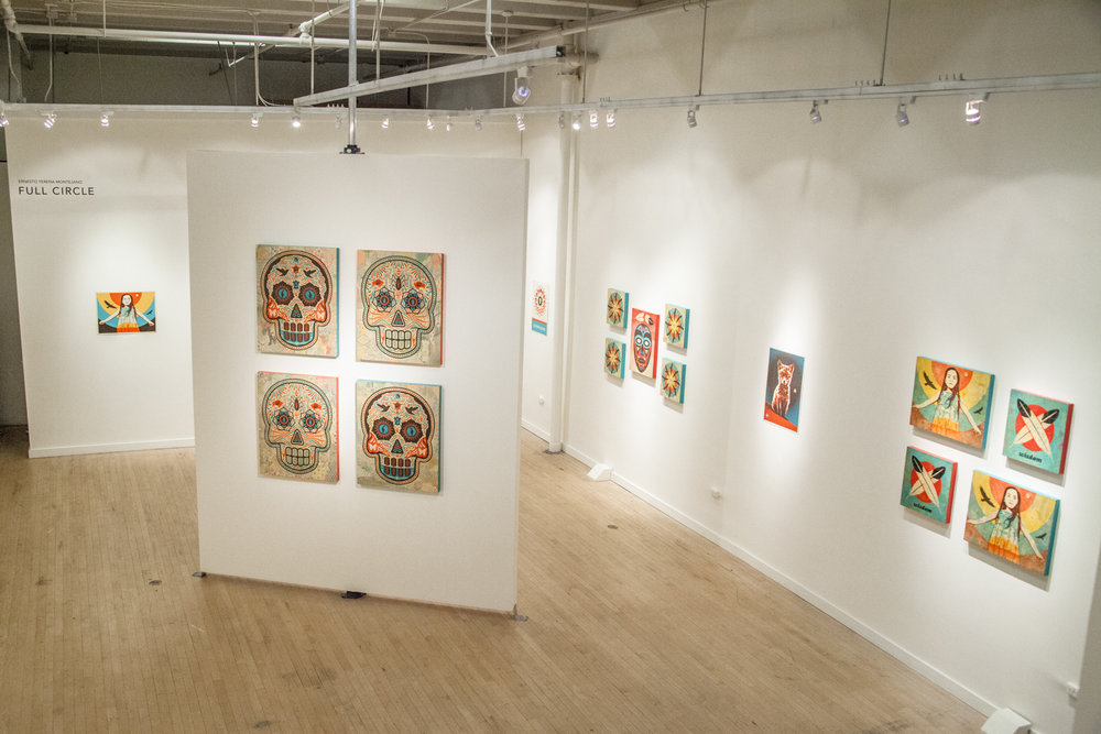 Treason Gallery presents 'Full Circle' and exhibition by Ernesto Yerena for First Thursday Artwalk in Pioneer Square Seattle. February, 2017 | Documentation by WISEKNAVE