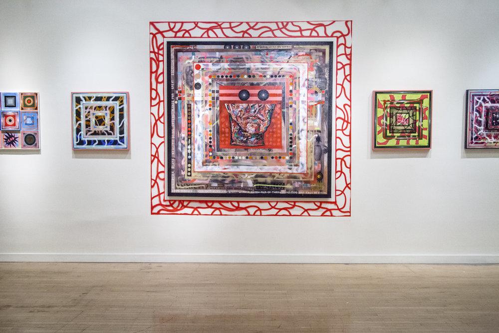 Treason Gallery presents 'Fleshy Projectors & The Poltergiest Flavored Algorithm Soup' an exhibition by Devin Liston. Fine Art in Pioneer Square Seattle, WA 2017.